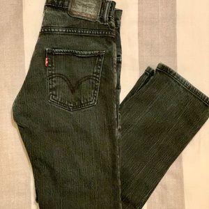 Levi's 511 Black Skinny Fit Jeans. Size 26X26